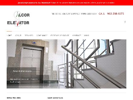 Alcor Elevator (905-538-0171) - Website thumbnail - http://www.alcorelevator.com