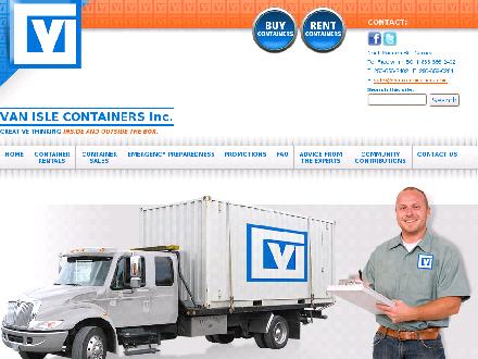 Van Isle Containers Inc (250-656-2402) - Website thumbnail - http://www.vanislecontainers.com
