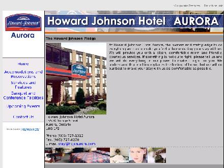 Howard Johnson Hotel (905-727-1312) - Onglet de site Web - http://www.hojoaurora.com