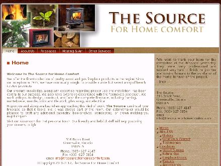 Source The (905-627-4147) - Onglet de site Web - http://www.thesourceforhomecomfort.com