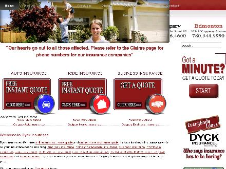 Dyck Insurance (780-392-0331) - Onglet de site Web - http://www.dyckinsurance.com