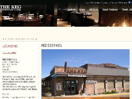 The Keg Steakhouse & Bar (403-309-5499) - Onglet de site Web - http://www.kegsteakhouse.com/en/locations/AB/red-deer/red-deer-keg/