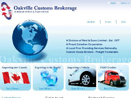 Oakville Customs Brokerage (905-829-7070) - Onglet de site Web - http://www.oakvillecustomsbrokerage.ca