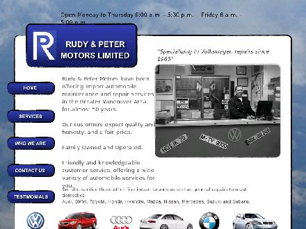 Rudy & Peter Motors Ltd (604-879-0491) - Website thumbnail - http://www.rudyandpetermotors.com