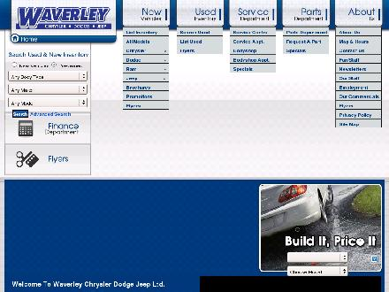 Waverley Chrysler Dodge Jeep (204-661-5337) - Website thumbnail - http://www.waverleychrysler.ca