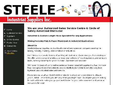 Steele Industrial Supplies Inc (705-476-4555) - Website thumbnail - http://www.steeleindustrial.com