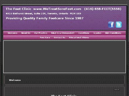 Foot Clinic (647-931-9438) - Website thumbnail - http://www.WeTreatSoreFeet.com