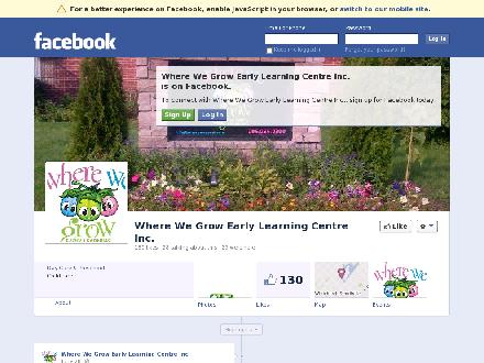 Where We Grow Early Learning Centre Inc (905-985-0800) - Website thumbnail - http://www.facebook.com/Wherewegrow