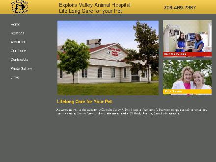 Exploits Valley Animal Hospital (709-489-7387) - Onglet de site Web - http://www.exploitsvalleyanimalhospital.com