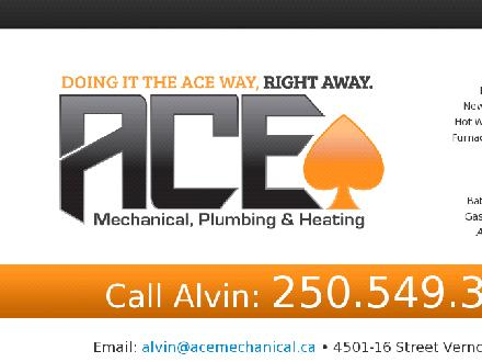 Ace Mechanical (250-541-1116) - Onglet de site Web - http://www.acemechanical.ca