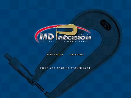 M D Precision (1994) Inc (450-589-3933) - Onglet de site Web - http://www.mdprecision.ca