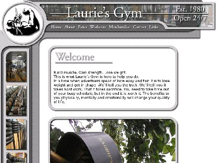 Laurie's Gym Ltd (604-533-2319) - Onglet de site Web - http://www.lauriesgym.ca