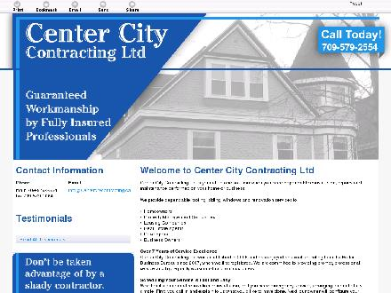 Center City Contracting Ltd (709-579-2554) - Onglet de site Web - http://centercitycontracting.ca/