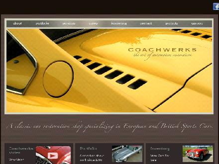 Coachwerks Automotive Restorations (250-382-6224) - Onglet de site Web - http://www.coachwerks.com