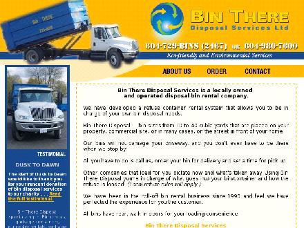 Bin There Disposal Services Ltd (604-980-7600) - Website thumbnail - http://www.binthere.com