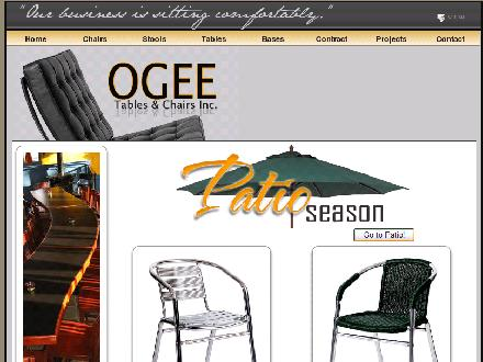 Ogee Tables & Chairs Inc (403-239-9567) - Onglet de site Web - http://www.ogee.ca