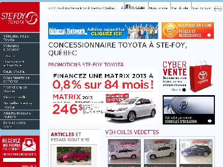 Ste-Foy Toyota (418-658-1340) - Onglet de site Web - http://www.ste-foytoyota.com