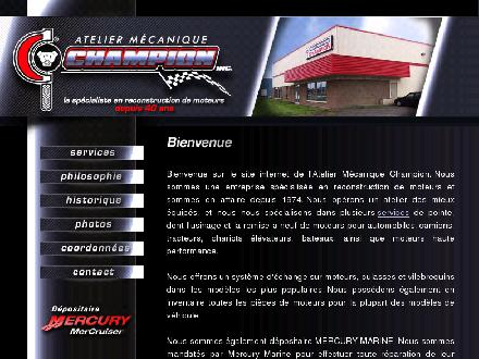 Atelier M&eacute;canique Champion (450-619-7444) - Onglet de site Web - http://www.atelierchampion.com