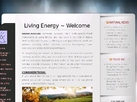 Living Energy Natural Health Centre (Ltd) (780-892-3006) - Website thumbnail - http://www.livingenergy.ca