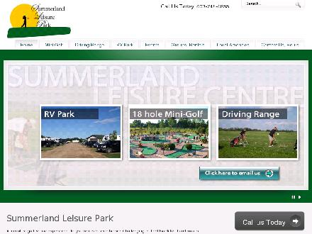 Summerland Leisure Park MiniGolf &amp; Driving Range (403-748-4855) - Onglet de site Web - http://www.summerlandleisurepark.com