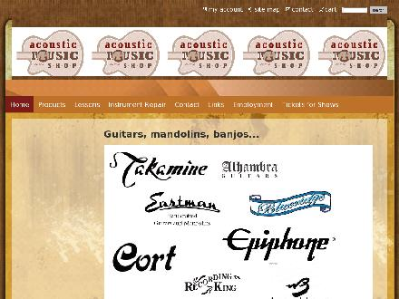 Acoustic Music Shop (780-433-3545) - Website thumbnail - http://www.acousticmusicshop.com