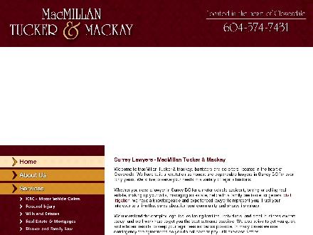 MacMillan Tucker &amp; Mackay (604-574-7431) - Onglet de site Web - http://mactuc.com/