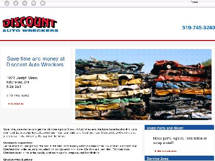 River Bend Recycling (519-745-3240) - Onglet de site Web - http://www.discountautowreckers.com