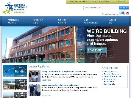 Markham Stouffville Hospital (905-472-7000) - Onglet de site Web - http://www.msh.on.ca