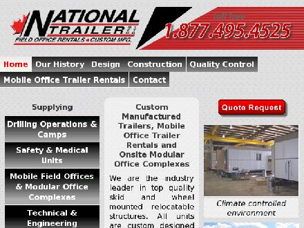 National Trailer Mfg Ltd (780-469-0820) - Onglet de site Web - http://www.nationaltrailer.ca