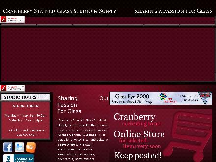 Cranberry Stained Glass Studio &amp; Supply Inc (902-876-5167) - Website thumbnail - http://www.cranberrystainedglass.com