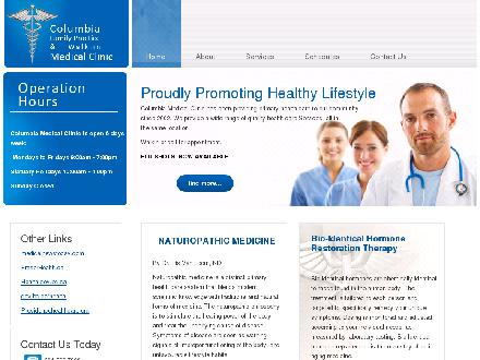 Columbia Family Practice &amp; Walk In Medical Clinic (604-522-7363) - Onglet de site Web - http://www.columbiamedicalclinic.ca
