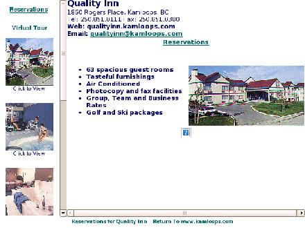 Quality Inn &amp; Suites (250-851-0111) - Onglet de site Web - http://www.qualityinn.kamloops.com