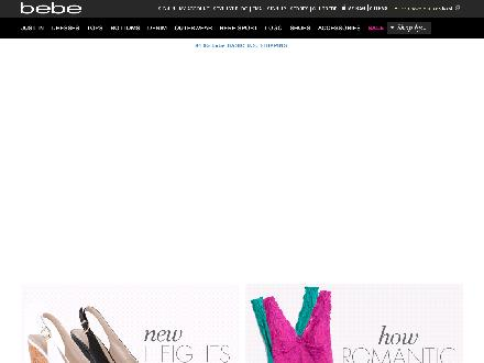 Bebe.com - Website thumbnail - http://www.bebe.com