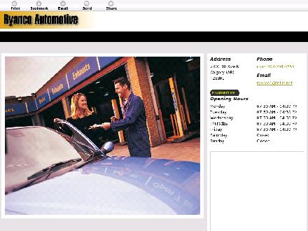 Ryanco Automotive (403-291-5553) - Website thumbnail - http://ryancoautomotive.com