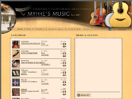 Myhre's Music Ltd (780-477-1586) - Website thumbnail - http://www.myhresmusic.com