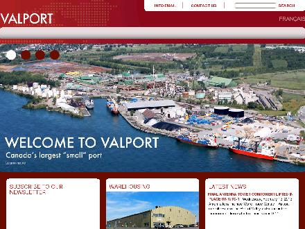 Valport Maritime Services Inc (450-377-6686) - Onglet de site Web - http://www.valport.ca