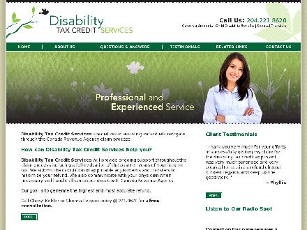 Disability Tax Credit Services (204-221-8628) - Onglet de site Web - http://www.disabilitytaxcreditservices.ca