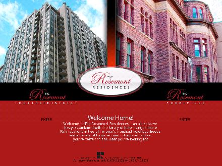 Rosemont Residences The (416-340-1221) - Website thumbnail - http://www.rosemontresidences.ca