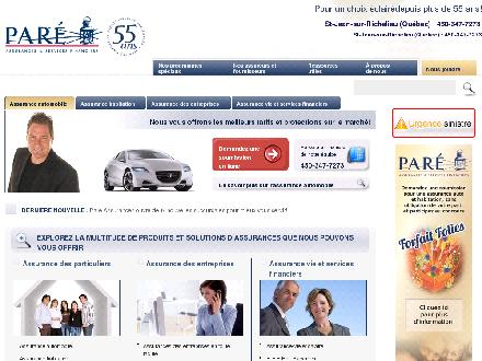 Paré Assurances & Services Financiers Inc (514-487-7273) - Website thumbnail - http://www.pareassurances.com