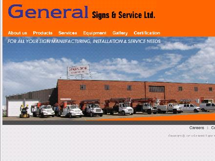 General Signs & Service Ltd (780-613-0333) - Website thumbnail - http://generalsignandservice.com