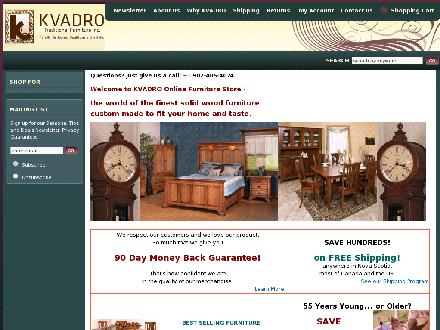 Kvadro Traditional Furniture Inc (902-405-4024) - Website thumbnail - http://www.kvadrofurniture.ca