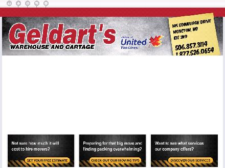 Geldarts Warehouse (1-866-273-3309) - Onglet de site Web - http://geldartsmoving.com/