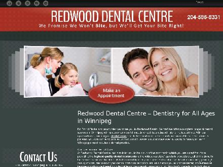 Redwood Dental Centre (204-586-8331) - Website thumbnail - http://redwooddental.ca/