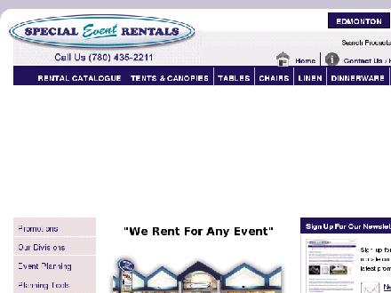 Special Event Rentals &amp; Sales (780-392-9831) - Onglet de site Web - http://www.specialeventrentals.com