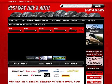 Bestway Tire Ltd (780-613-0210) - Website thumbnail - http://www.bestwaytire.ca