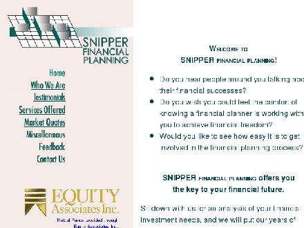 Snipper Financial Planning (613-236-8878) - Onglet de site Web - http://www.snipperfinancialplanning.com
