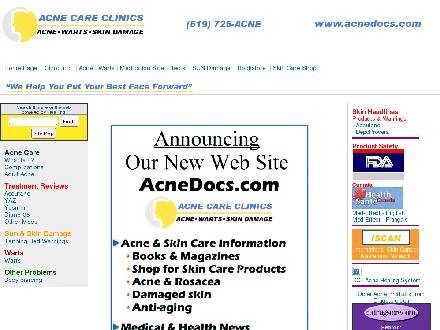 Acne and Skin Care Clinic (519-725-2263) - Website thumbnail - http://www.acnedocs.com