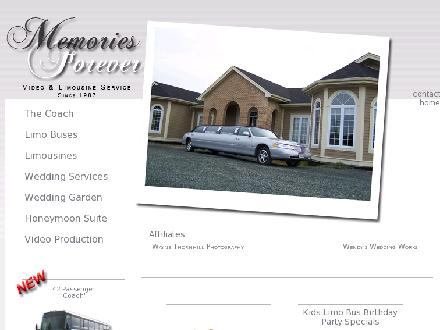 Memories Forever Limousine Service (709-690-7433) - Onglet de site Web - http://www.MemoriesForever.ca