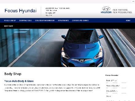 Focus Autobody & Glass (204-800-0309) - Onglet de site Web - http://www.focushyundai.ca/Pages/Dealer/Dealerbodyshop.aspx