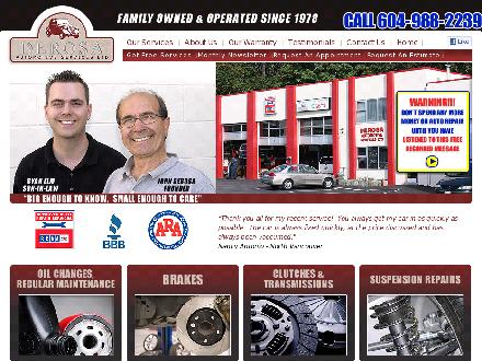 Derosa Automotive Service (604-990-2872) - Website thumbnail - http://www.derosaauto.ca